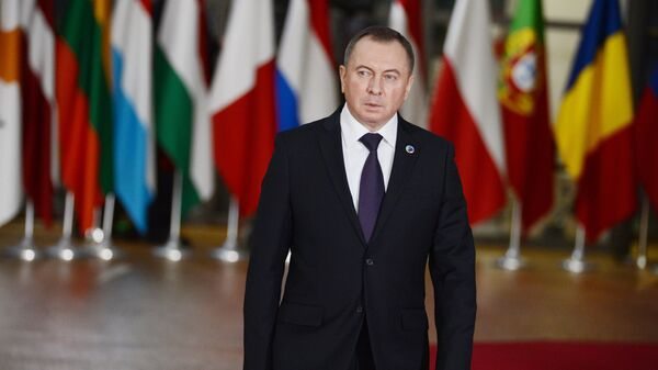 Министр иностранных дел Белоруссии Владимир Макей на Саммите Восточного партнерства в Брюсселе