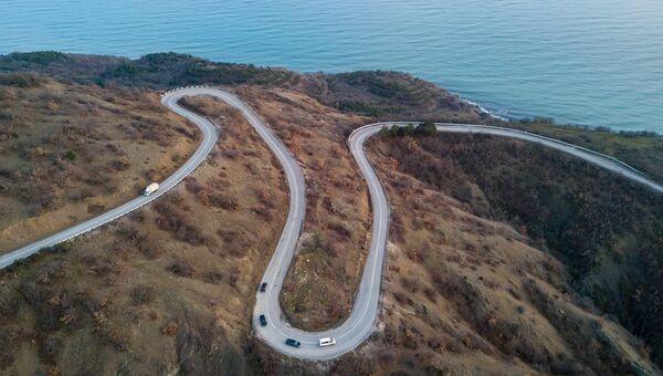 Дорога в районе села Малореченское