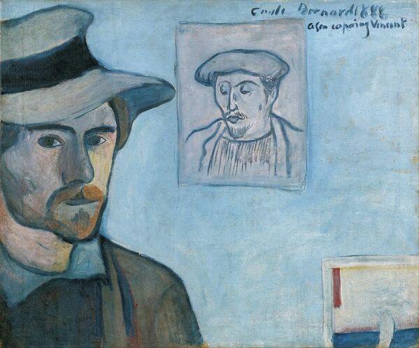 Автопортрет с портретом Гогена