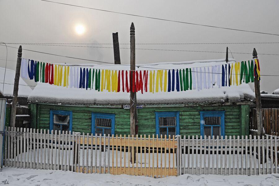 Здание, которое занимает шаманское общество Дунгур в Кызыле