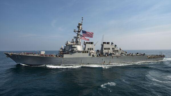 Ракетный эсминец  USS Hopper ВМС США. Архивное фото
