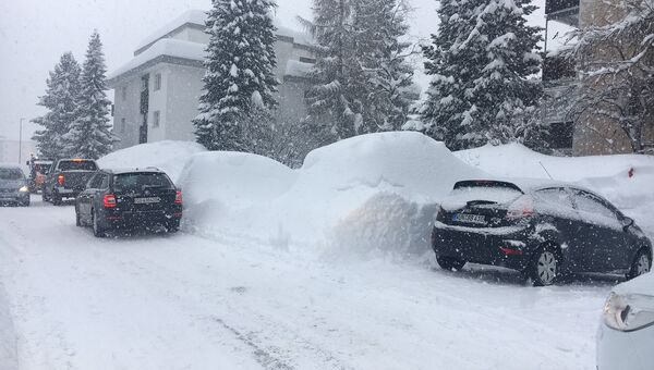Погодные условия привели к проблемам с передвижением в Давосе