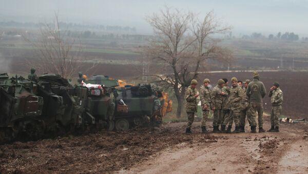 Турецкие военные в провинции Хатай, Турция. 24 января 2018