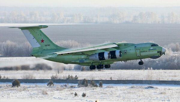 Первый полет первого летного образеца самолета-топливозаправщика Ил-78М-90А в Ульяновске. 25 января 2018