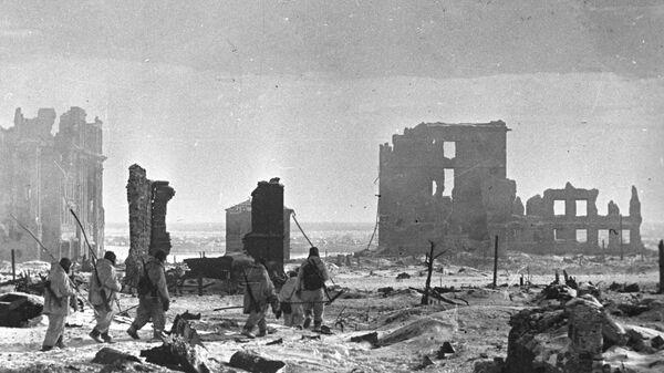 Центр города Сталинграда после освобождения от немецко-фашистских захватчиков. Великая Отечественная война 1941-1945 годов