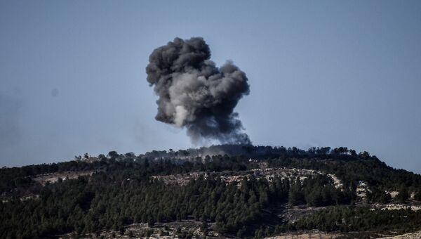 Во время турецкой военной операции Оливковая ветвь против курдского анклава. 28 января 2018