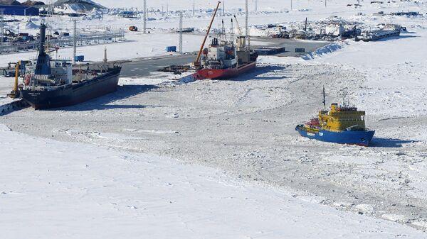 Порт Сабетта в Ямало-Ненецком автономном округе