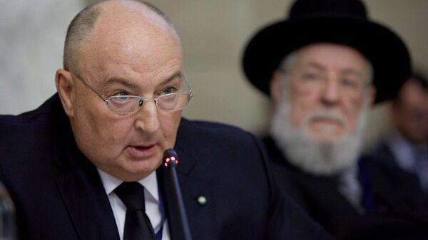 Президент Европейского еврейского конгресса Вячеслав Моше Кантор на международной конференции в Риме