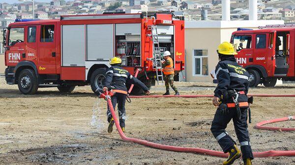 Пожарные в Азербайджане