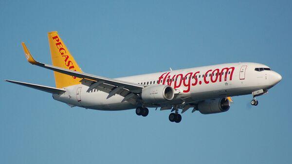 Пассажирский самолет Boeing 737-800 авиакомпании Pegasus