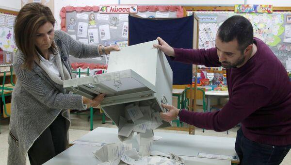 Избирательный участок в Никосии, Кипр. 4 февраля 2018