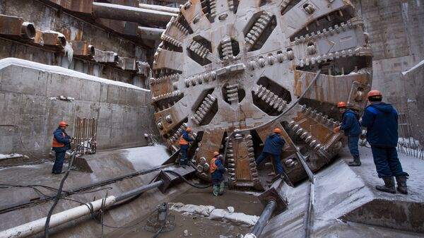 Строительство метро в Москве. Архивное фото