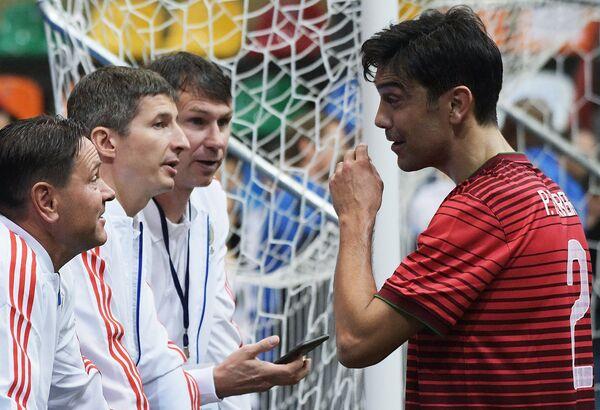Дмитрий Аленичев, Евгений Алдонин, Егор Титов (слева направо) и Паулу Феррейра
