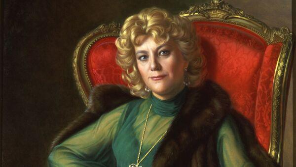 Александр Шилов, портрет Елены Образцовой. Архивное фото