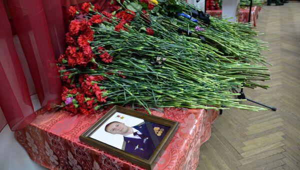 Церемония прощания с летчиком Романом Филиповым в Воронеже. 8 февраля 2018