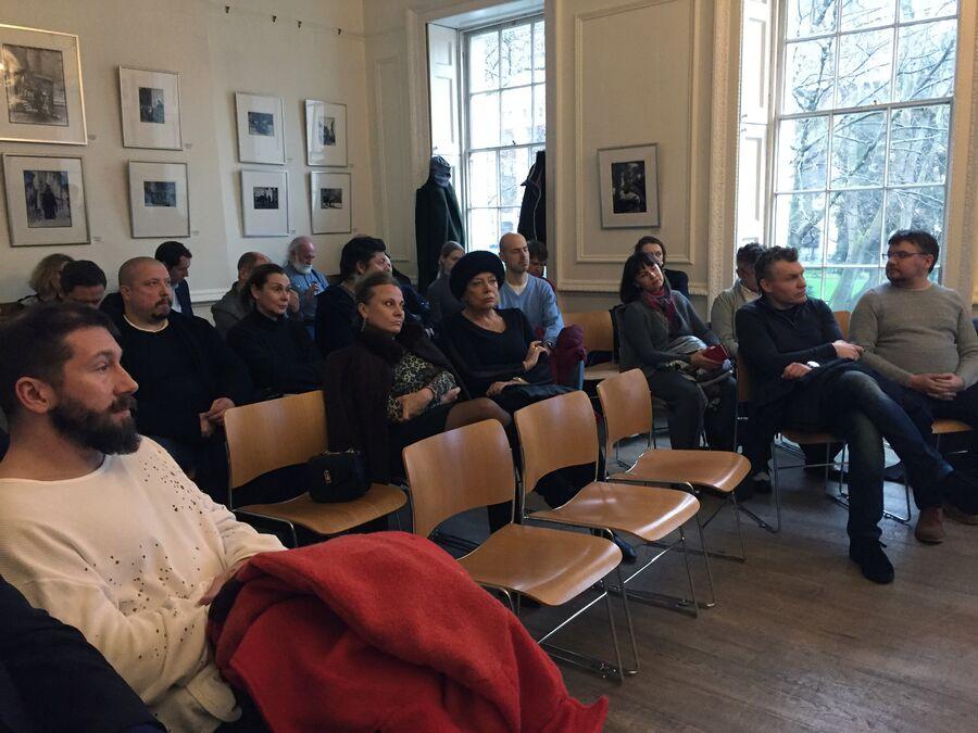 На встрече с Борисом Титовым в Пушкинском доме в Лондоне