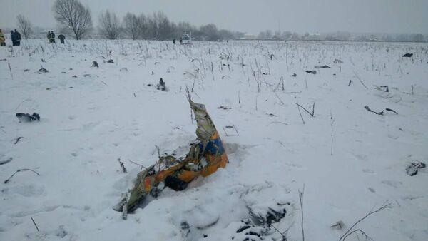 На месте крушения самолета Ан-148 авиакомпании Саратовские авиалинии в Московской области. 11 февраля 2018