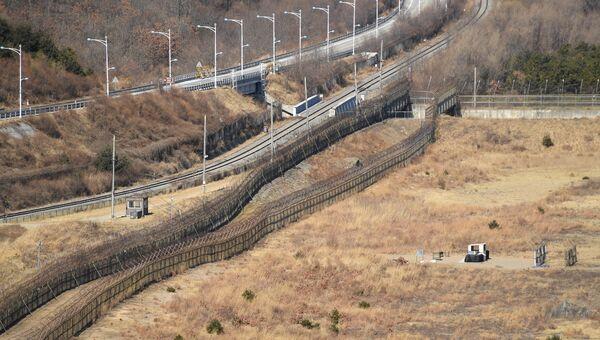 Корейская демилитаризованная зона в окрестностях уезда Косон-гун. Архивное фото