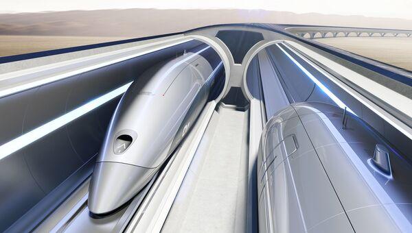 Концепт транспортной системы Hyperloop Transportation Technologies. Архивное фото
