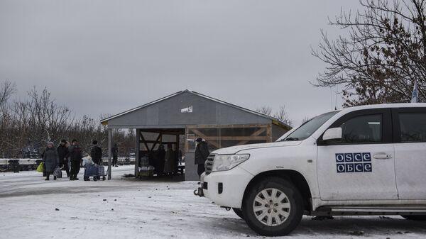 Автомобиль миссии ОБСЕ в Донбассе