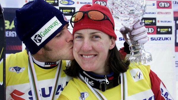 Австралийская лыжница Джеки Купер на Чемпионате мира в Финляндии. 10 марта 2001