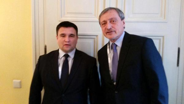 Министр иностранных дел Чехии Мартин Стропницкий и глава МИД Украины Павел Климкин во время встречи. 17 февраля 2018