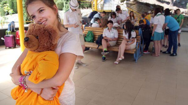 Дети в международном детском центре Артек