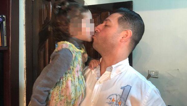 Девочка, якобы похищенная из гостиницы в Вене, со своим отцом в Ливане