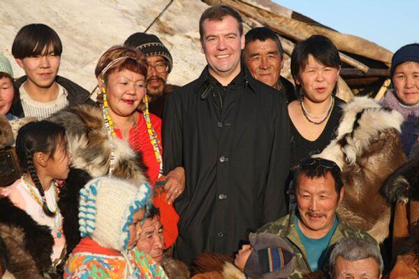 Президент России Дмитрий Медведев в Чукотском автономном округе