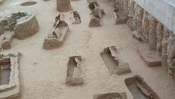 Часть кладбища римских времен