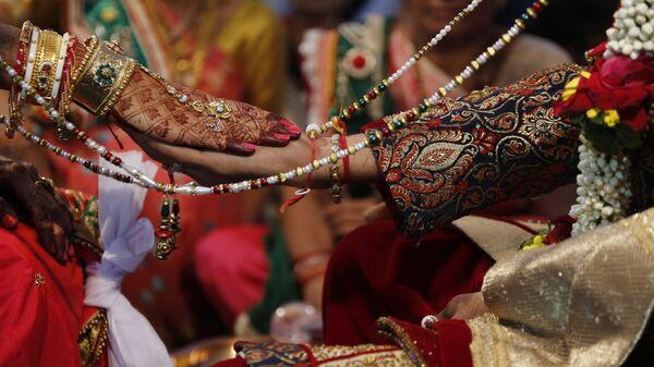 Свадебная церемония в Сурате в Индии