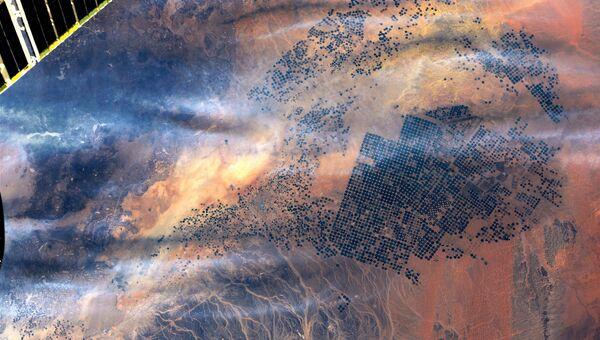Фотография Саудовской Аравии сделанная космонавтом Роскосмоса Антоном Шкаплеровым с борта МКС