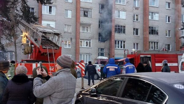 Последствия пожара в городском поселении Раменское на улице Кирова. 1 марта 2018