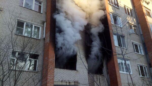 Пожар в городском поселении Раменское на улице Кирова. 1 марта 2018