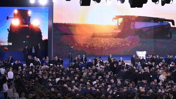 Перед началом оглашения ежегодного послания президента Российской Федерации Федеральному Собранию. 1 марта 2018