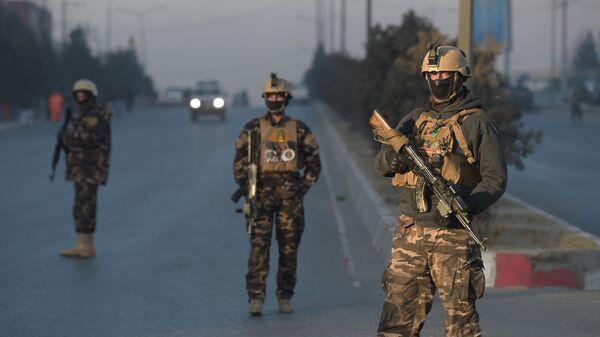 Афганские военные в Кабуле. Архивное фото