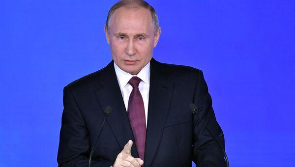 Президент РФ Владимир Путин. 1 марта 2018