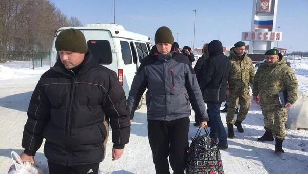 Украинские пограничники, переданные российской стороной. 2 марта 2018