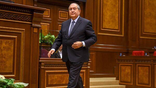 Президент Армении Армен Саркисян. Архивное фото