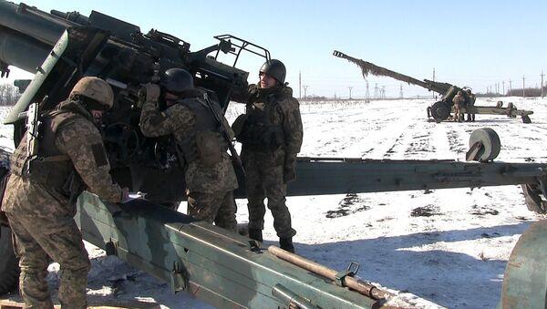 Учения украинской армии в Луганской области. Архивное фото