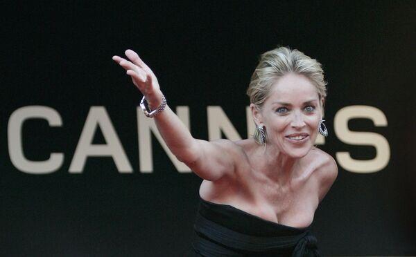 Актриса Шэрон Стоун во время 62-го Международного кинофестиваля в Каннах, на юге Франции. 20 мая 2009 года