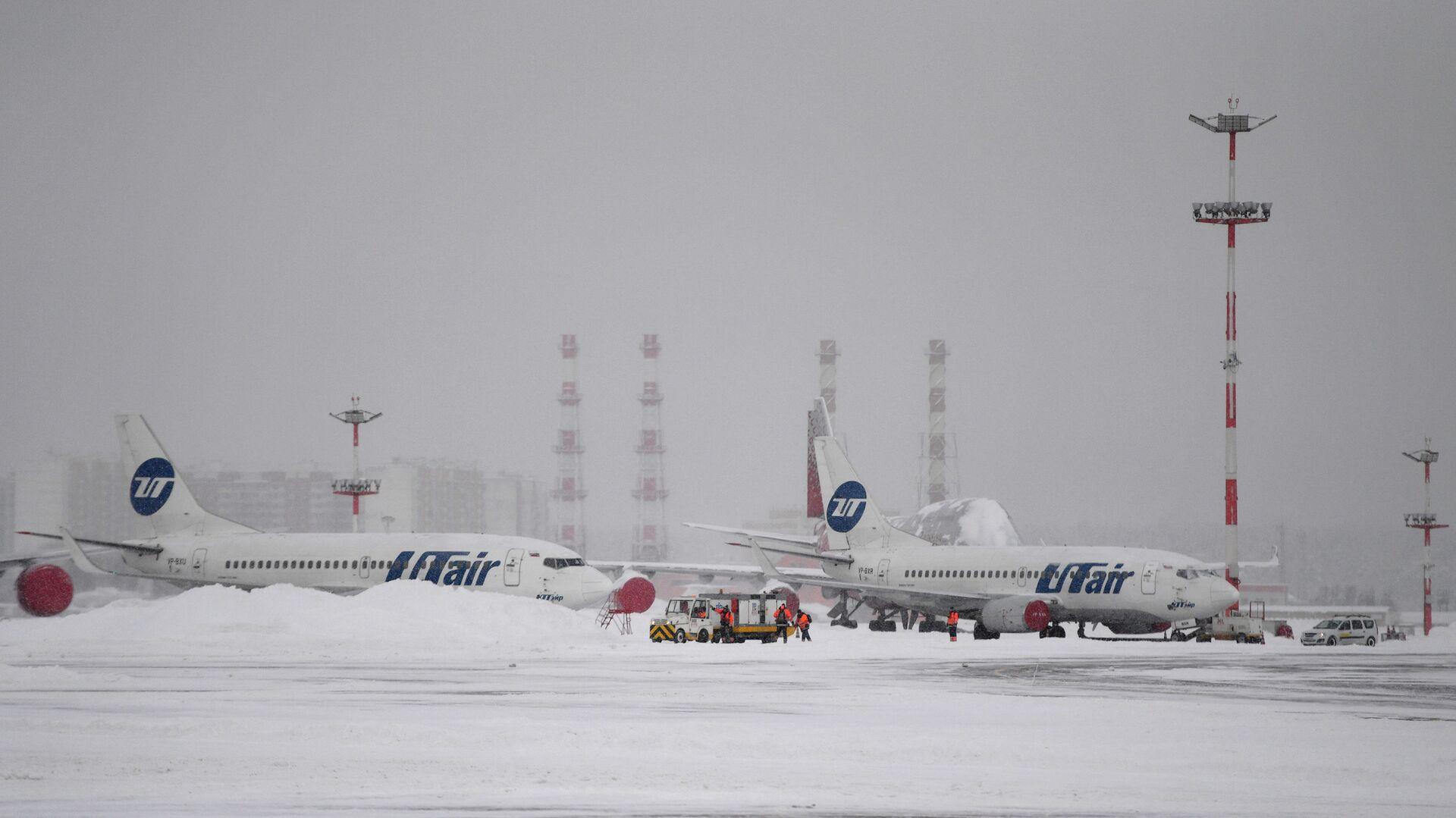 Самолеты авиакомпании Utair в аэропорту Внуково в Москве - РИА Новости, 1920, 10.02.2021