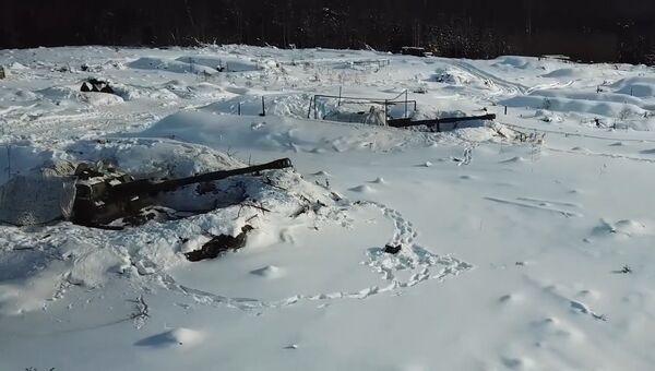 Cтрельбы снарядами Краснополь. Кадры Минобороны России