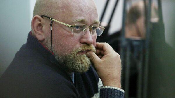 Руководитель Центра обмена военнопленными Офицерский корпус Владимир Рубан во время судебного заседания в Киеве, Украина