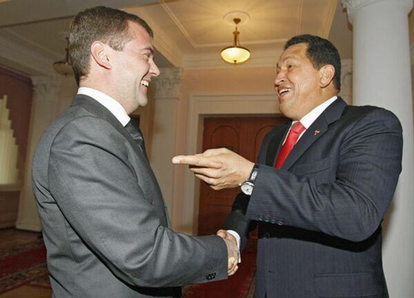 Дмитрий Медведев и Уго Чавес