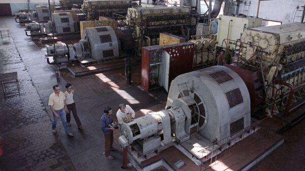 Машинный зал дизельной электростанции