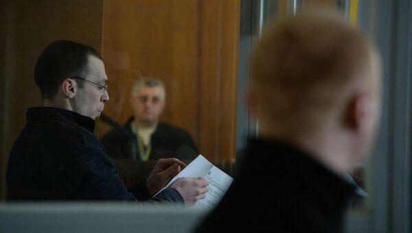 Журналист Василий Муравицкий на заседании суда в Житомире