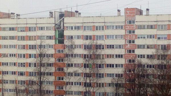 Последствия взрыва в девятиэтажном жилом доме в Санкт-Петербурге. 13 марта 2018