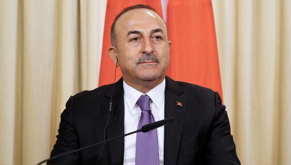 Глава МИД Турции Мевлют Чавушоглу. архивное фото