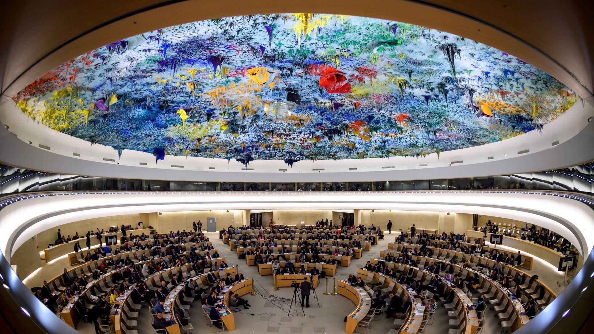 Зал заседаний Совета по правам человека ООН в Женеве - РИА Новости, 1920, 21.09.2020